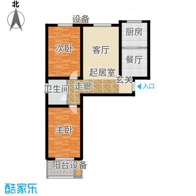 阳光盛景102.30㎡C1 两室两厅两卫户型2室2厅2卫
