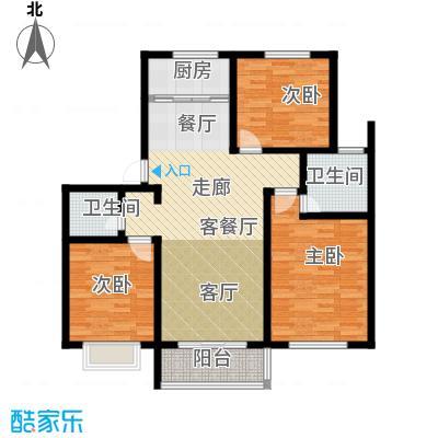 公园里123.00㎡4#楼(奇数)F1户型3室2厅2卫