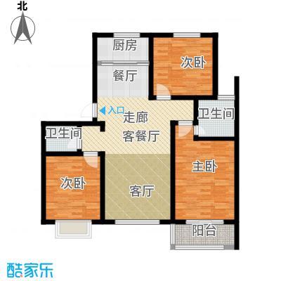公园里123.00㎡4#楼(偶数)F1户型3室2厅2卫