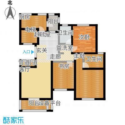 世纪梧桐公寓135.00㎡I型 三室二厅二卫户型