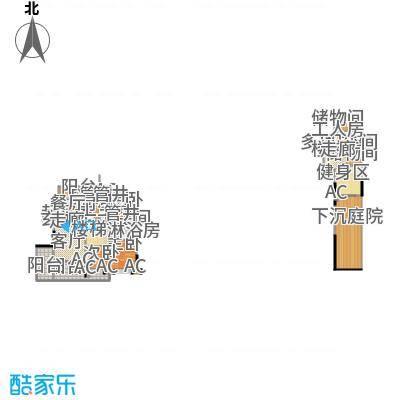 沈阳雅居乐花园138.29㎡B3户型三室二厅二卫户型3室2厅2卫