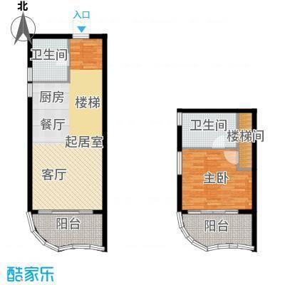 龙栖湾・波波利海岸101.00㎡二期06户型1室2厅2卫