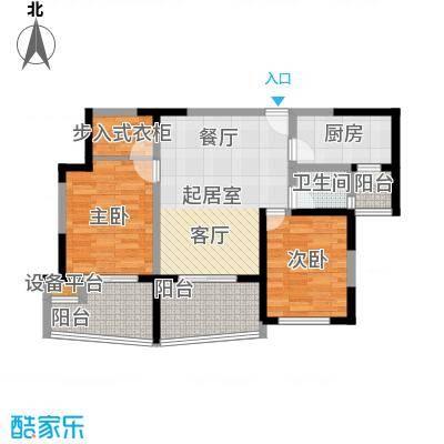 美好・龙沐湾C4 95.11平米户型2室1厅1卫