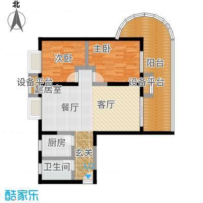美好・龙沐湾C1 93.83平米户型2室2厅1卫