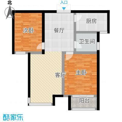 万和蓝山79.51㎡D2户型2室2厅1卫