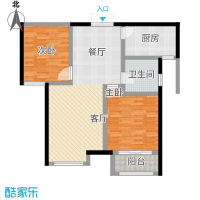 万和蓝山79.97㎡E2户型2室2厅1卫