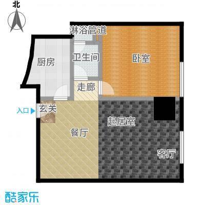 迎宾国际公寓1门06户型 一室一厅 91.94㎡户型