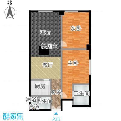 迎宾国际公寓1门08户型 二室二厅 127.97㎡户型
