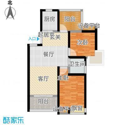 中铁诺德誉园88.00㎡B1户型2+1房2厅1卫户型3室2厅1卫