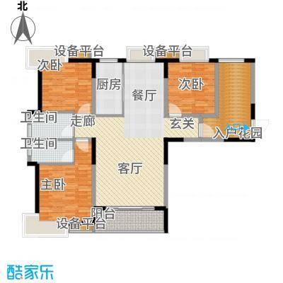 三和悦城三房两厅两卫面积为135.94平方户型