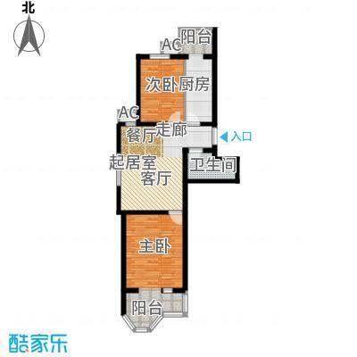 第6城二期110.00㎡2室1厅1卫户型
