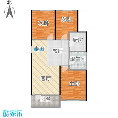 中海康城95.00㎡小高层GB户型 三室两厅一卫户型3室2厅1卫