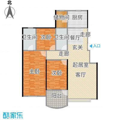 中海康城142.00㎡电梯洋房DC户型 三室两厅两卫户型3室2厅2卫