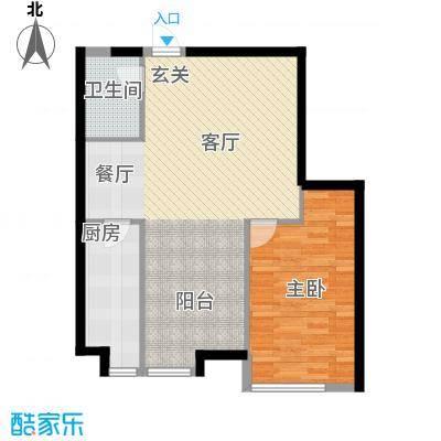 栖里凤台山庄73.00㎡C户型2室2厅1卫1厨73㎡户型
