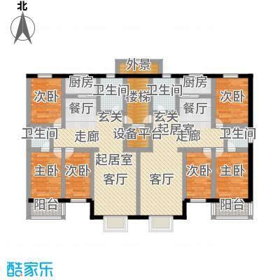 丽景花园135.66㎡三室两厅两卫户型