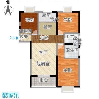 添锦明居136.77㎡F户型3室2厅2卫