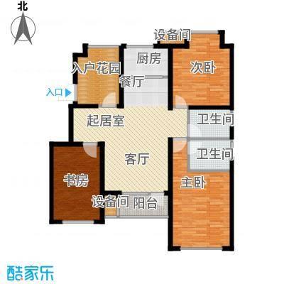 荣盛香缇澜山110.86㎡多层D19-A户型 三室两厅两卫户型3室2厅2卫