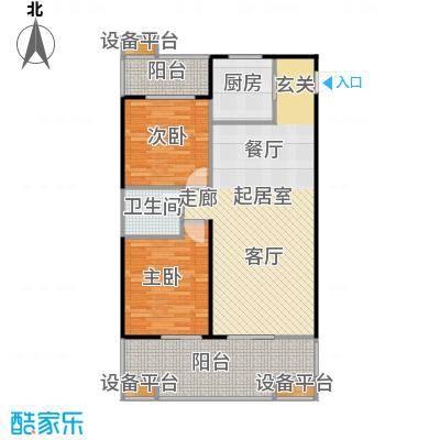 中和龙沐湾・海润源91.66㎡B3户型2室2厅1卫
