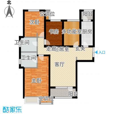 珠江道12号146.05㎡三室两厅两卫户型