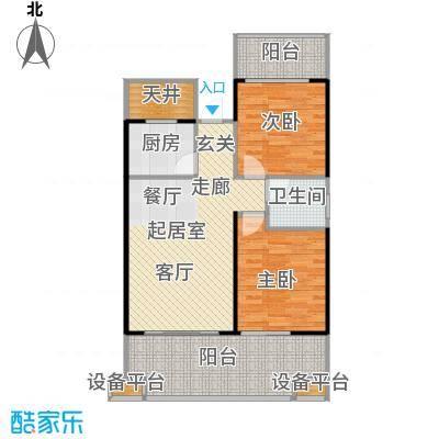 中和龙沐湾・海润源81.27㎡B2户型2室2厅1卫