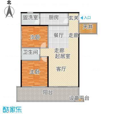 中和龙沐湾・海润源104.80㎡B1户型2室2厅1卫