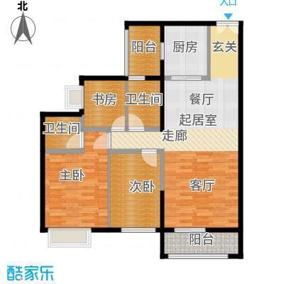锦江国际新城98.00㎡1/2/3栋02单元户型3室2厅2卫