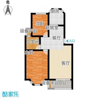 丰润港岛花园户型2室1卫1厨