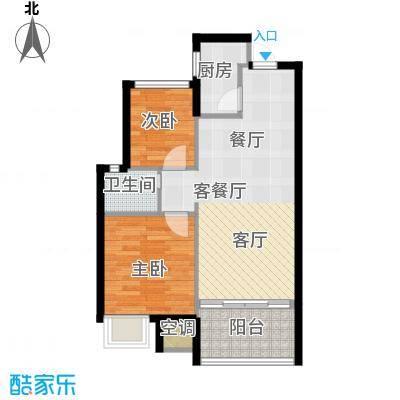 陵河家园户型2室1厅1卫1厨