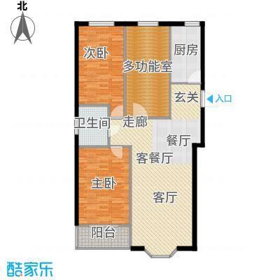 欧韵华庭111.96㎡J户型三室两厅一卫户型3室2厅1卫
