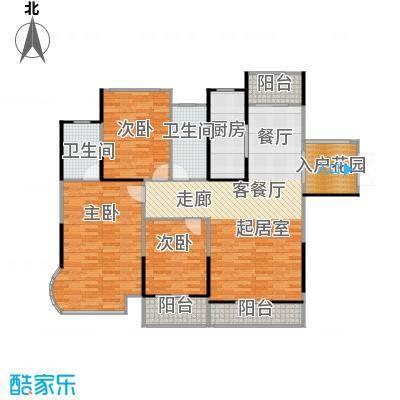 嘉福尚江尊品128.65㎡户型3室1厅2卫1厨