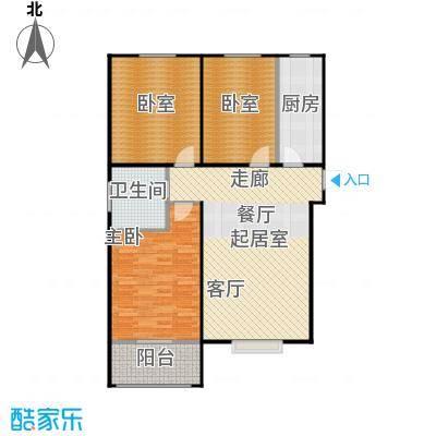 一诺假日兰庭115.00㎡7号A-1 三室一厅一卫户型3室1厅1卫