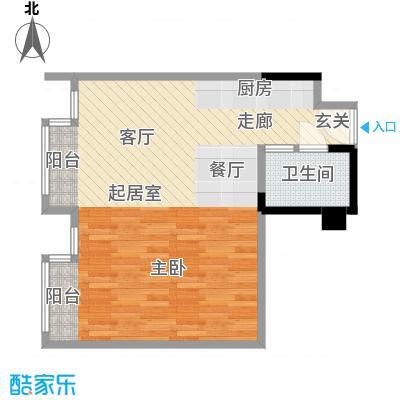 第六田园独立日一室一卫 78平米户型