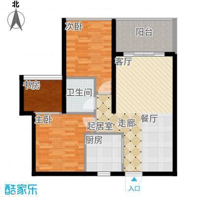 海韵・陵河假日81.09㎡二期户型5户型2室2厅1卫