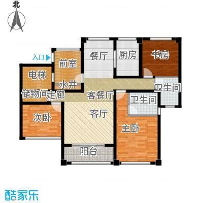 苏州望湖公寓123.00㎡D2户型4室2厅2卫