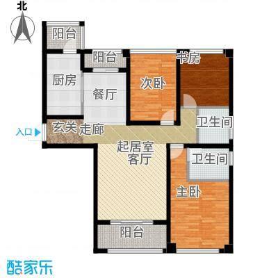 苏州望湖公寓120.00㎡A2户型3室2厅2卫