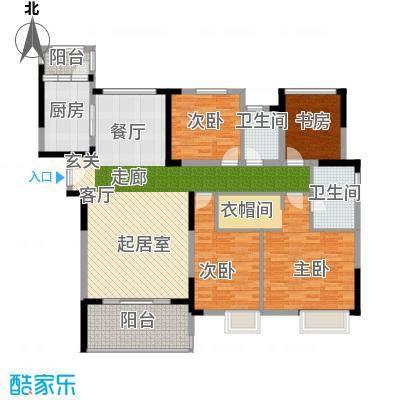 南山柠檬城140.00㎡D户型 3房2厅2卫户型3室2厅2卫