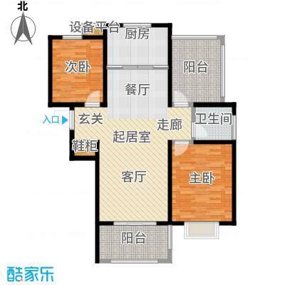 望虞花园93.10㎡7、8#标准层户型2室2厅1卫