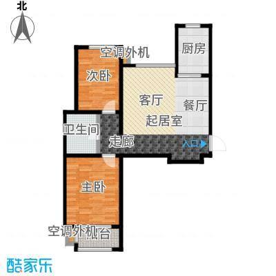 金桥澎湖山庄89.10㎡22号楼G10户型2室2厅1卫
