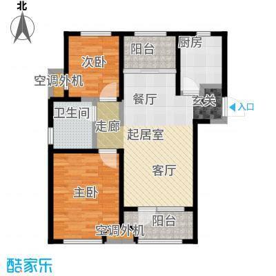 金桥澎湖山庄90.28㎡G16户型2室2厅1卫