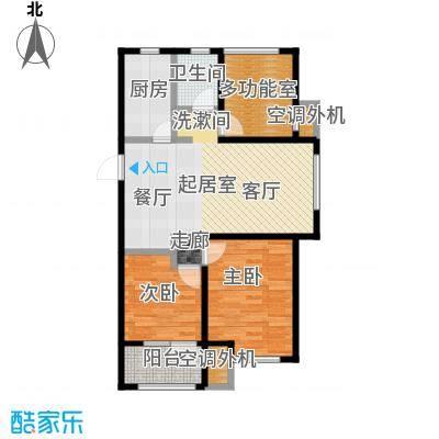 金桥澎湖山庄93.75㎡G18户型2室2厅1卫