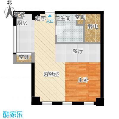 怡景.聚贤庭61.02㎡E3单身公寓户型1室1厅1卫