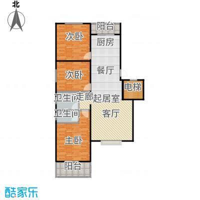屹立卓郡125.86㎡三室两厅两卫户型3室2厅2卫