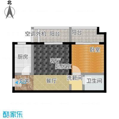 万福大厦(非社区)41.00㎡一室一厅户型
