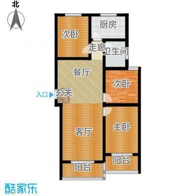 顺平水木清华111.78㎡三室两厅一卫户型3室2厅1卫