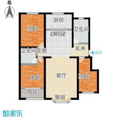 莲花山庄J户型三室两厅两卫户型3室2厅2卫