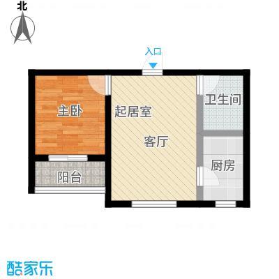 莲花山庄G户型一室一厅一卫户型1室1厅1卫