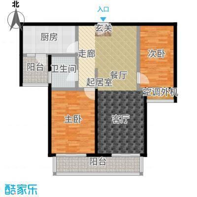 兰亭凤栖苑户型2室1卫1厨
