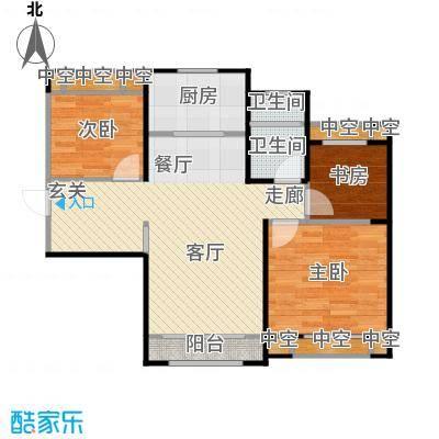 天津碧桂园91.00㎡J456D户型3室2厅1卫