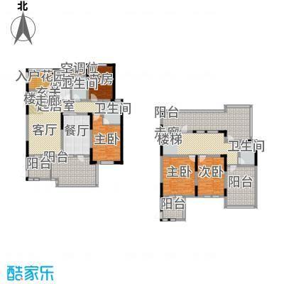 香榭里户型4室1厅3卫1厨