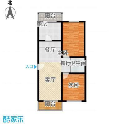 创业公寓二期101.9户型2室1厅1卫